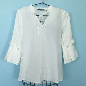 Karl Lagerfeld Blouse with ruffle sleeves